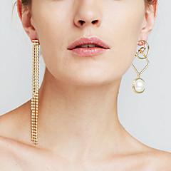 preiswerte Ohrringe-Damen Synthetischer Diamant Nicht übereinstimmend Lang Tropfen-Ohrringe - Erklärung, Personalisiert, Luxus Gold / Silber Für Weihnachts Geschenke Jahrestag Veranstaltung / Fest