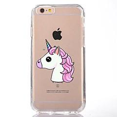 Caso para el iphone ultrafino suave 7 de la cubierta del caso de la contraportada del unicornio de la historieta del tpu 7 6 más 6s más se