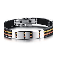 billige armbånd-Herre Armbånd Personaliseret Håndlavet Hip-hop Mode minimalistisk stil silica Gel Titanium Stål Andre Cirkelformet Geometrisk form Smykker