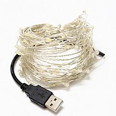 billige LED-stribelys-Lysslynger 100 lysdioder Varm hvid Hvid Grøn Blå Rød <5V