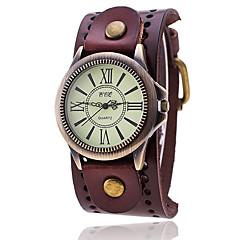 preiswerte Damenuhren-Herrn Armband-Uhr Quartz Armbanduhren für den Alltag Leder Band Analog Retro Freizeit Modisch Schwarz / Weiß / Blau - Rot Grün Blau Ein Jahr Batterielebensdauer / SSUO LR626