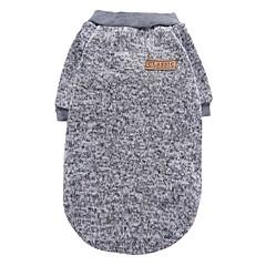 Kot Pies Płaszcze T-shirt Bluzy Ubrania dla psów Imprezowa Codzienne Zatrzymujący ciepło Sportowe Stały Gray