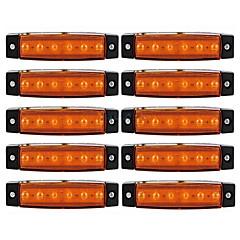 Ziqiao 10pcs 12v 6led indicador lateral indicador luzes lâmpada para carro caminhão caminhão lorry ônibus 6 levou âmbar / branco /