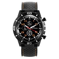 お買い得  メンズ腕時計-男性用 クォーツ リストウォッチ スポーツウォッチ カジュアルウォッチ シリコーン バンド クール ブラック
