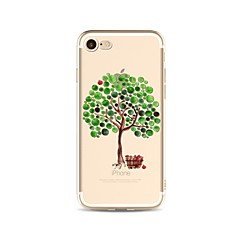 abordables Liquidación-Funda Para Apple iPhone X iPhone 8 Plus Transparente Diseños Cubierta Trasera Árbol Suave TPU para iPhone X iPhone 8 Plus iPhone 8 iPhone