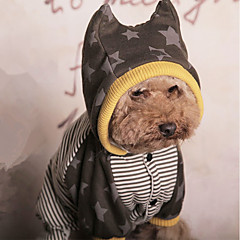お買い得  犬用ウェア&アクセサリー-犬 ジャンプスーツ 犬用ウェア 縞柄 イエロー コットン コスチューム ペット用 男性用 / 女性用 ハロウィーン