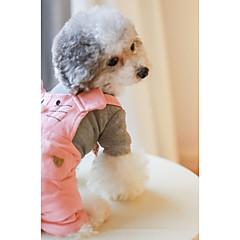 Σκύλος Φόρμες Ρούχα για σκύλους Αναπνέει Καθημερινά Βρετανικό Πορτοκαλί Ροζ Στολές Για κατοικίδια