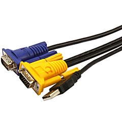 VGA Кабель, VGA to VGA Кабель Male - Male Позолоченная медь 5.0m (16ft)