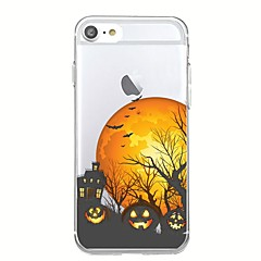 For iphone 7plus case deksel gjennomsiktig mønster bakdeksel case tegneserie halloween morsom myk tpu for iphone 7 6splus 6plus 6s 6 5 5s