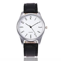 preiswerte Tolle Angebote auf Uhren-Herrn Quartz Armbanduhr Chinesisch Leder Band Freizeit Elegant Modisch Schwarz Braun