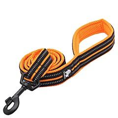 저렴한 -강아지 가죽끈 안티 슬립 반사 통기성 안전 솔리드 나일론 블랙 오렌지 옐로우 퓨샤 블루