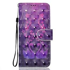 Недорогие Чехлы и кейсы для Sony-Кейс для Назначение Sony Xperia XA Ультра Sony Sony Xperia XA Бумажник для карт Кошелек со стендом Чехол Цветы Животное Мягкий Кожа PU для