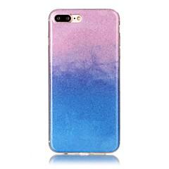 Käyttötarkoitus iPhone X iPhone 8 kotelot kuoret Ultraohut Kuvio Takakuori Etui Kimmeltävä Color Gradient Pehmeä TPU varten Apple iPhone
