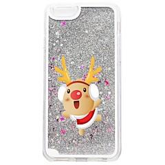 Недорогие Кейсы для iPhone 6 Plus-Кейс для Назначение Apple iPhone 7 Plus iPhone 7 Движущаяся жидкость С узором Кейс на заднюю панель Рождество Сияние и блеск Твердый ПК