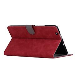 お買い得  タブレット用ケース-ケース 用途 Huawei MediaPad M3 Lite 8(CPN-W09, CPN-AL00 フルボディーケース ソリッド ハード PUレザー のために Huawei MediaPad M3 Lite 8(CPN-W09, CPN-AL00