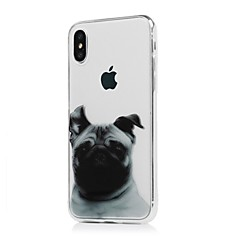 cheap iPhone Cases-Case For Apple iPhone X iPhone X iPhone 8 iPhone 8 Plus Ultra-thin Transparent Pattern Back Cover Dog Soft TPU for iPhone X iPhone 8 Plus