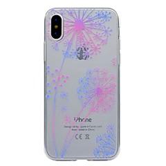 Недорогие Кейсы для iPhone X-Кейс для Назначение Apple iPhone X iPhone X iPhone 8 iPhone 8 Plus Прозрачный С узором Кейс на заднюю панель одуванчик Мягкий ТПУ для