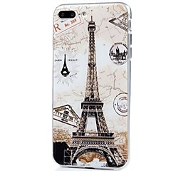Voor iPhone X iPhone 8 Hoesje cover Ultradun Patroon Achterkantje hoesje Eiffeltoren Zacht TPU voor Apple iPhone X iPhone 7s Plus iPhone