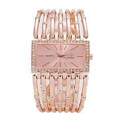 preiswerte Damenuhren-Damen Quartz Armbanduhr Armbanduhren für den Alltag Legierung Band Luxus Freizeit Elegant Modisch Cool Silber Gold Rotgold