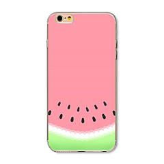 お買い得  iPhone 5S/SE ケース-ケース 用途 Apple iPhone X / iPhone 8 パターン バックカバー 果物 ソフト TPU のために iPhone X / iPhone 8 Plus / iPhone 8
