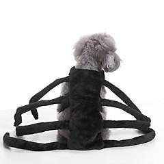 tanie Odzież dla kota-Kot Pies Kostiumy Ubrania dla psów Imprezowa Cosplay Halloween Jendolity kolor Black Kostium Dla zwierząt domowych