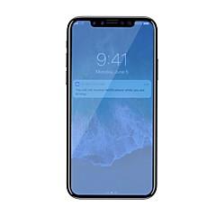 Недорогие Защитные пленки для iPhone X-Защитная плёнка для экрана Apple для iPhone X Закаленное стекло 1 ед. Защитная пленка для экрана Против отпечатков пальцев Фильтр синего