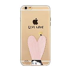 Недорогие Кейсы для iPhone-Назначение iPhone X iPhone 8 Чехлы панели Прозрачный С узором Задняя крышка Кейс для С сердцем Мягкий Термопластик для Apple iPhone X