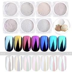 7bottles / set nail art kiiltävä jauhe peili vaikutus shimmer nail diy värikäs koristeet