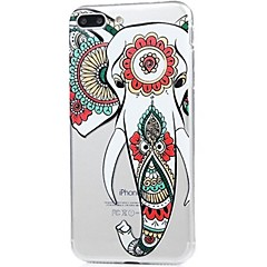 Назначение iPhone X iPhone 8 Чехлы панели Ультратонкий С узором Задняя крышка Кейс для Слон Мягкий Термопластик для Apple iPhone X iPhone
