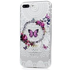 Na iPhone X iPhone 8 Etui Pokrowce Wzór Etui na tył Kılıf Motyl Koronka Printing Miękkie Poliuretan termoplastyczny na Apple iPhone X