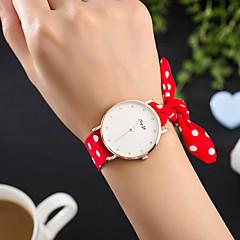 preiswerte Damenuhren-Damen Armbanduhr Kreativ / Cool Stoff Band Charme / Luxus / Freizeit Schwarz / Weiß / Rot