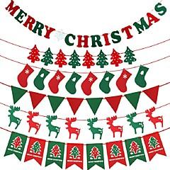 Karácsonyfák Harisnya Karácsonyi zászlók Karácsony ChristmasForÜnnepi Dekoráció