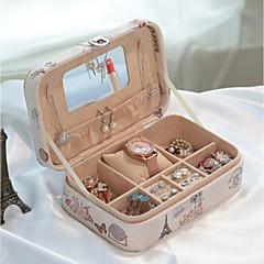 abordables Almacenamiento de Joyería y Maquillaje-Textil El plastico Óvalo Casa Organización, 1pc Almacenamiento de Maquillaje Cajas de Joyería Organizadores de Joyas