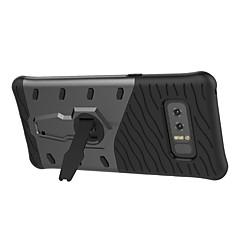 hoesje Voor Samsung Galaxy Note 8 Note 5 met standaard 360° rotatie Achterkantje Effen Kleur Hard PC voor Note 8 Note 5