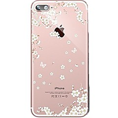 etui til iPhone 7 6 blomst tpu mykt ultra-tynt bakdeksel coveret iphone 7 pluss 6 6s pluss se 5s 5 5c 4s 4