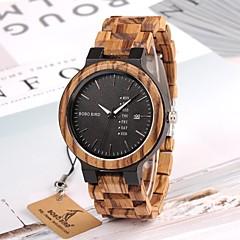preiswerte Herrenuhren-Herrn Quartz Armbanduhr Chinesisch Kalender / Chronograph / Wasserdicht Holz Band Charme / Luxus / Freizeit / Holz / Elegant / Modisch