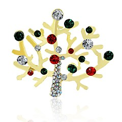 お買い得  ブローチ-合成ダイヤモンド ブローチ - ラインストーン クラシック ブローチ 混色 用途 クリスマス
