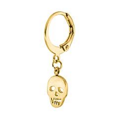 preiswerte Ohrringe-Herrn Damen Geometrisch Tropfen-Ohrringe - Totenkopf Retro, Hip-Hop Gold / Schwarz / Silber Für Halloween Normal