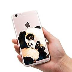 Недорогие Кейсы для iPhone-Кейс для Назначение Apple iPhone 7 / iPhone 7 Plus Ультратонкий / Полупрозрачный / С узором Кейс на заднюю панель Животное / Панда Мягкий ТПУ для iPhone 7 Plus / iPhone 7 / iPhone 6s Plus