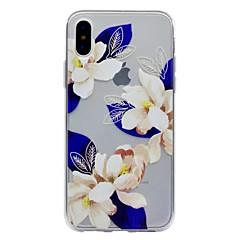 Назначение iPhone X iPhone 8 Чехлы панели Полупрозрачный С узором Задняя крышка Кейс для Цветы Мягкий Термопластик для Apple iPhone X