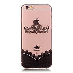 Χαμηλού Κόστους Θήκες iPhone 6-Για iPhone X iPhone 8 Θήκες Καλύμματα Εξαιρετικά λεπτή Με σχέδια Πίσω Κάλυμμα tok Lace Εκτύπωση Μαλακή TPU για Apple iPhone X iPhone 8