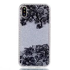 Назначение iPhone X iPhone 8 Чехлы панели С узором Задняя крышка Кейс для Кружева Печать Сияние и блеск Твердый Акриловое волокно для