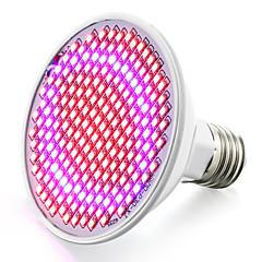 preiswerte LED-Birnen-6.2W 800-850lm E26 / E27 Wachsende Glühbirne 200 LED-Perlen SMD 2835 Blau Rot 85-265V