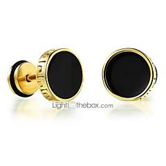 cheap Earrings-Men's Stud Earrings - Titanium Steel Rock, Fashion Gold / Silver For Daily / Casual