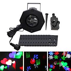 お買い得  LEDクリスマスライト-ywxlight®ip65防水ユーUS ukプラグ6w雪片プロジェクターライト休日の装飾