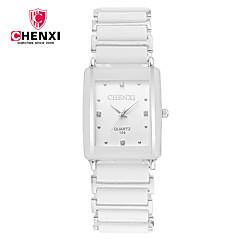 preiswerte Armbanduhren für Paare-CHENXI® Paar Armbanduhr Japanisch Cool Legierung Band Charme / Luxus / Freizeit Schwarz / Weiß