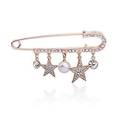 Damskie Broszki Pearl imitacja Modny Słodkie Style Perłowy Stop Round Shape Star Shape Biżuteria Na Party Wieczór Wyjściowe