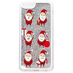 tanie Etui do iPhone-Kılıf Na Apple iPhone 7 Plus iPhone 7 Z płynem Wzór Czarne etui Święta Bożego Narodzenia Połysk Twarde PC na iPhone 7 Plus iPhone 7