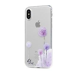 Na iPhone X iPhone 8 iPhone 8 Plus Etui Pokrowce Ultra cienkie Przezroczyste Wzór Etui na tył Kılıf Mniszek lekarski Miękkie Poliuretan