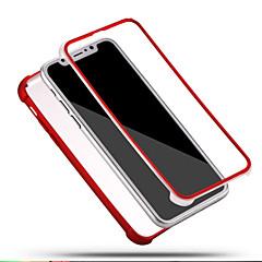 Назначение iPhone X iPhone 8 iPhone 8 Plus Чехлы панели Защита от удара Чехол Кейс для Сплошной цвет Мягкий Силикон для Apple iPhone X